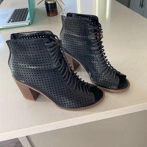 Ankle peep toe booties